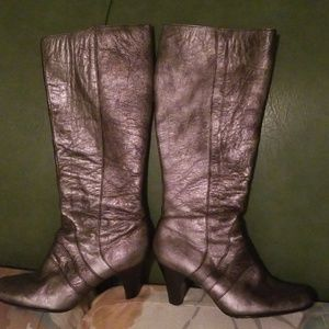 Metallic  Born Crown Heeled Boots